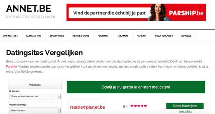 Dating sites vergelijken